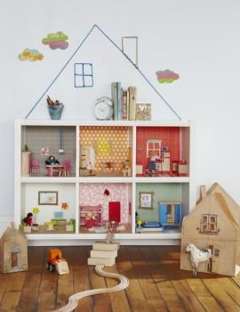 Una casa de muñecas barata y fácil de hacer