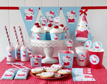 Cumpleaños de Hello Kitty ¡imprimibles gratis!
