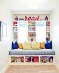 Un rincón de lectura en la habitación infantil
