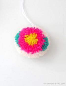 Increíbles pompones con flores
