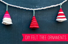 Adornos de Navidad caseros de fieltro, ¡arbolitos!