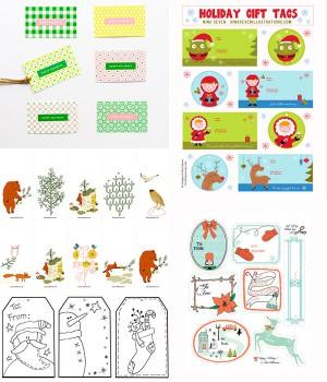 5 etiquetas navideñas de regalo ¡para imprimir gratis!