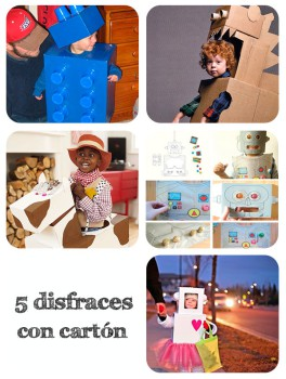 5 disfraces hechos con cartón