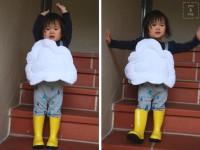 Disfraz casero muy original ¡una nube!