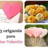3 origamis para San Valentín