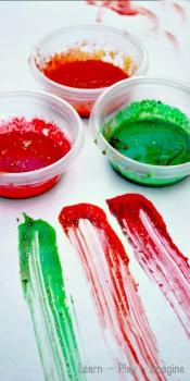 Pintura para dedos casera ¡y comestible!