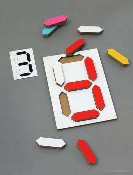Rompecabezas casero para aprender los números