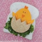 Sándwich divertido: ¡un pollito!