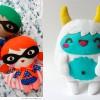 Manualidades con fieltro: dos muñecos adorables