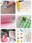 6 sellos caseros para niños