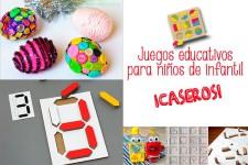 Juegos educativos caseros ¡para niños de infantil!