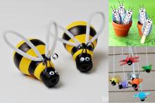 6 manualidades infantiles de insectos amigables