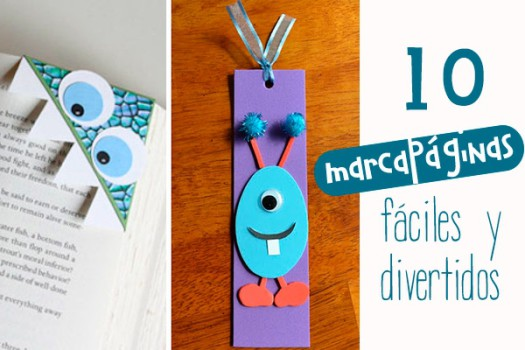 10 marcapáginas originales ¡y muy divertidos!