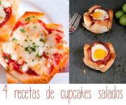 Recetas para niños: 4 cupcakes salados