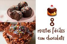 8 recetas fáciles con chocolate