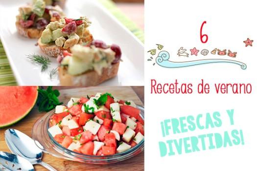 6 recetas de verano ¡frescas y divertidas!
