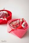 Manualidades con fieltro: un mini cesta muy fácil
