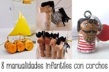 8 manualidades infantiles con corchos