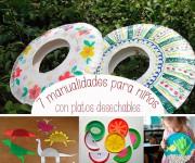 7 manualidades para niños con platos desechables