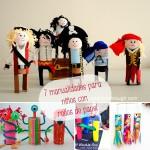 7 manualidades para niños con rollos de papel