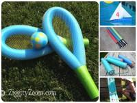 5 Juegos infantiles caseros ¡con churros de piscinas!