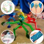 5 manualidades infantiles con pajitas