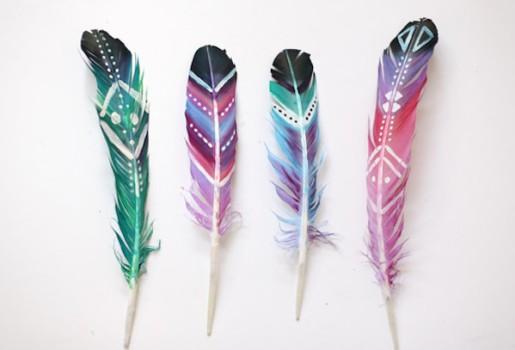 Manualidades originales: ¡plumas divertidas!