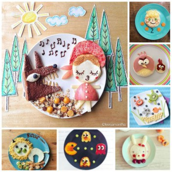 Cocina para niños, ¡un cuadro en el plato!