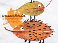 Manualidades para niños con materiales de otoño
