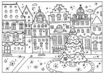 5 simpáticos dibujos de Navidad ¡para colorear!