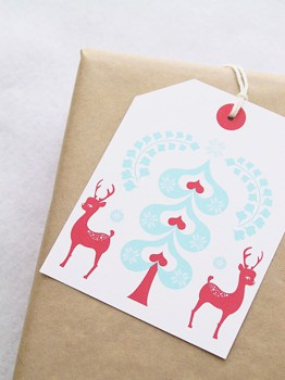 6 etiquetas para los regalos de Navidad