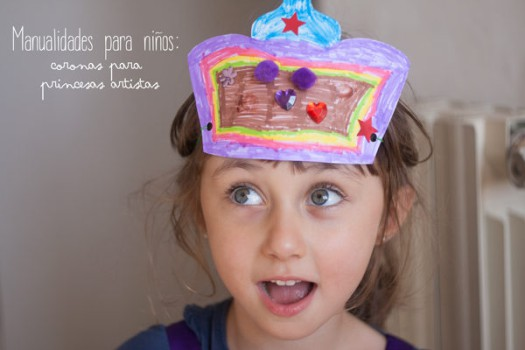 Manualidades infantiles, coronas de princesa