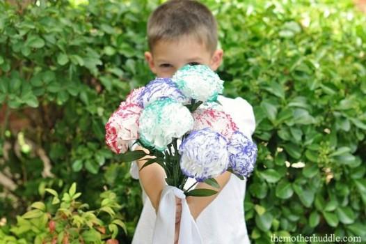 5 flores de papel fáciles