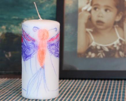 Regalos Día de la Madre: velas decoradas