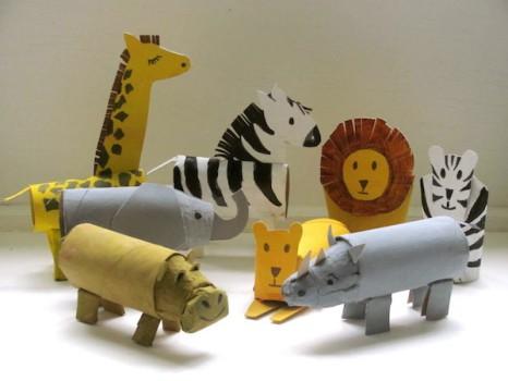 Manualidades recicladas: animales de rollos de papel