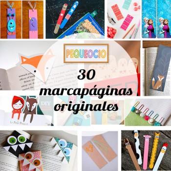 30 marcapáginas ¡para todos los gustos!