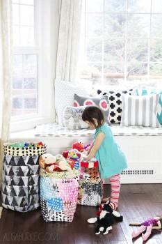 Decoración infantil, ideas para ordenar los juguetes