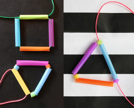 6 manualidades para niños con pajitas