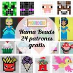 Hama beads, 24 patrones gratis