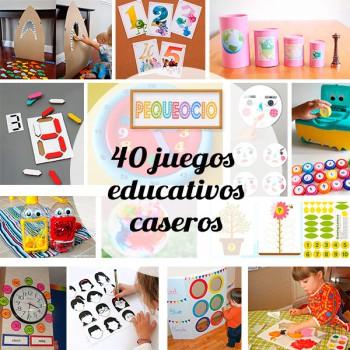 40 juegos educativos caseros