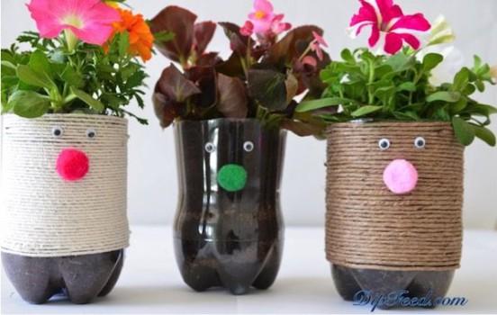 5 manualidades recicladas: ¡botellas divertidas!