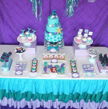 Fiestas infantiles, un cumpleaños de La Sirenita