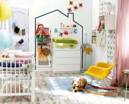 Habitaciones infantiles, paredes con washi tape