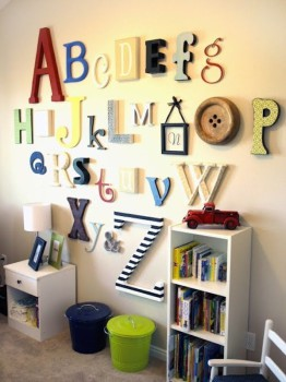 Decoración infantil: decorar con letras