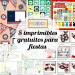 5 imprimibles gratuitos para fiestas infantiles