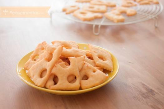 Recetas para niños, galletas de queso