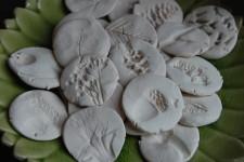 Manualidades para niños: huellas de hojas y flores