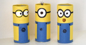 Manualidades con rollos de papel: dibujos animados