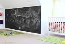 5 habitaciones infantiles con paredes de pizarra