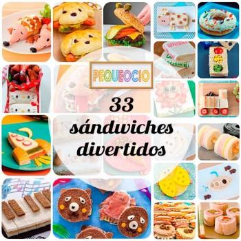 33 recetas para niños, ¡sándwiches divertidos!